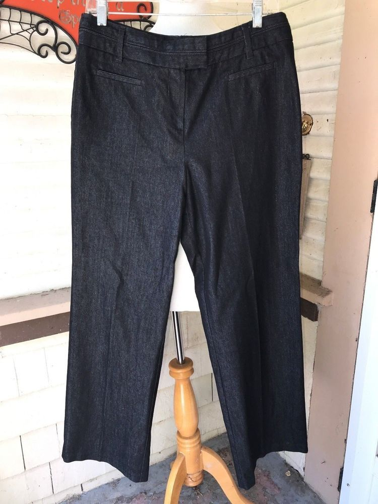 9ac73637ad SIMPLY AND COMFY PANTS DARK BLUE COTTON DENIM JEANS DRESS BARN 10 WORN ONCE   fashion  clothing  shoes  accessories  womensclothing  jeans (ebay link)