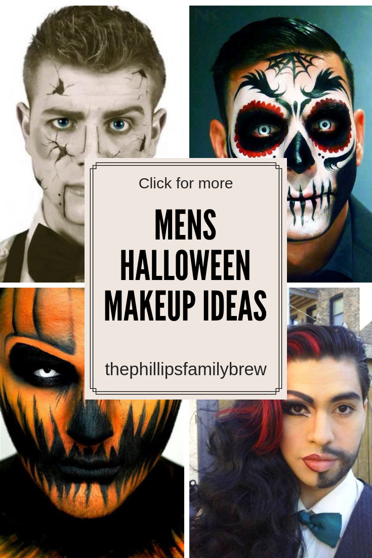 Men\u0027s Halloween Makeup Ideas; Blogtober 20