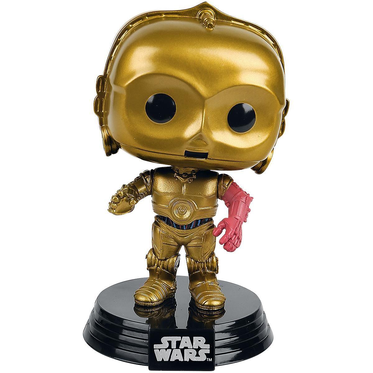 Statuetta decorativa C-3PO di Star Wars del brand #Funko collezione Bobble Head. Altezza: 11 cm circa.