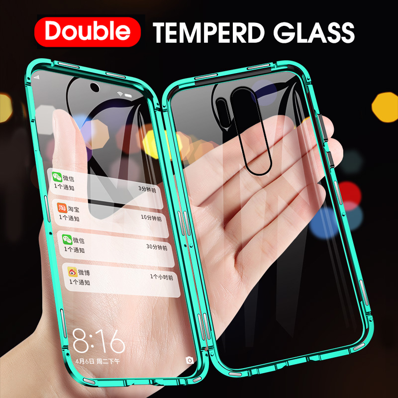 Double Sided Magnetic 360 Full Protect Case For Redmi Note 8 Pro Tempered Glass Back Cover For Xiaomi Note 8 Redmi Note 7 Case Barua Shop Buy Online Phone C Xiaomi Protective Cases Case