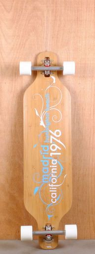 "The Madrid 39"" Vines Bamboo Longboard is designed for carving, cruising, and freestyle."