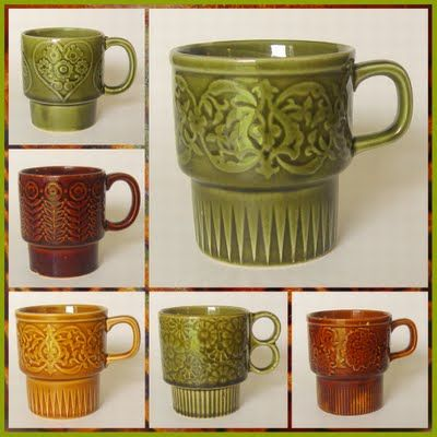 Vintage Japanese Stacking Coffee Cups