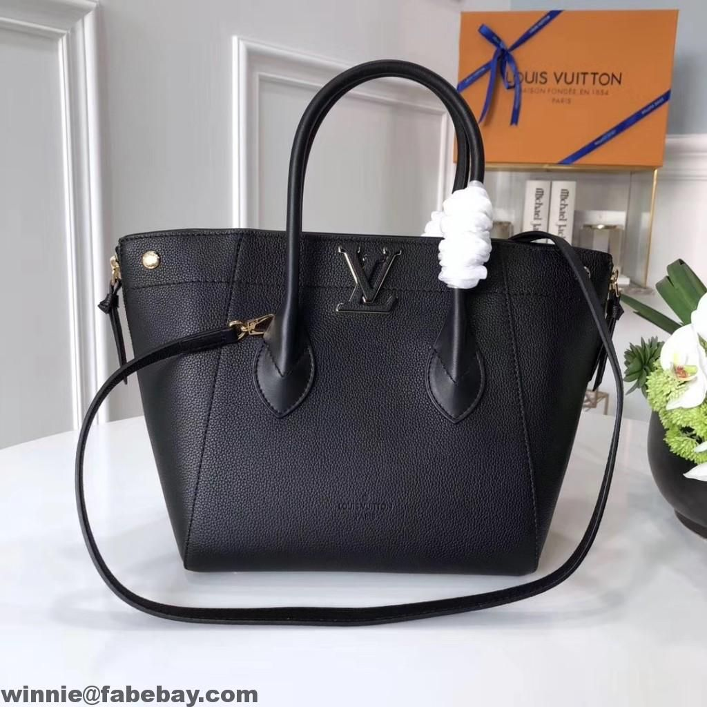 Louis Vuitton Calfskin Freedom Bag M54843 Noir 2017