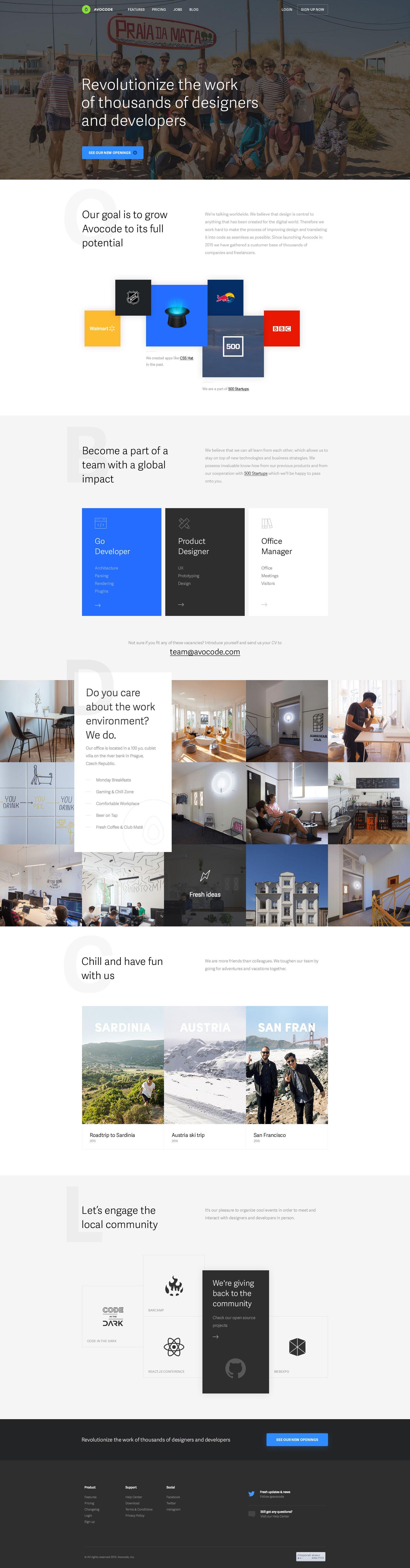 Avocode – jobs page by Michael Čečetka