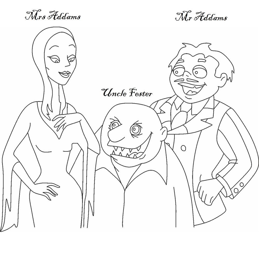 The Addams Family coloring page Vintage coloring books