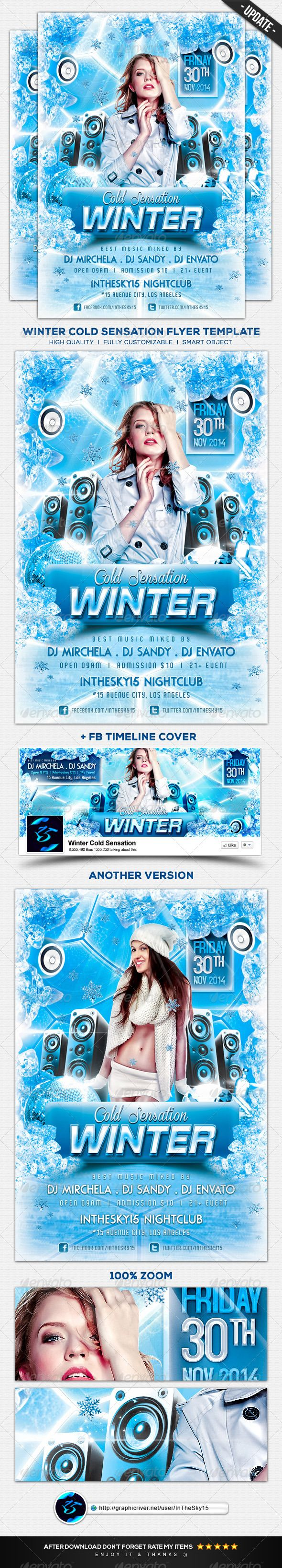 winter cold sensation flyer template ice flyers and flyer template winter cold sensation flyer template psd here graphicriver