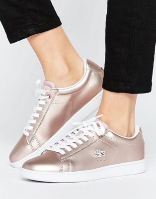 16350e8af8f Lacoste Carnaby Evo Rose Gold Trainers