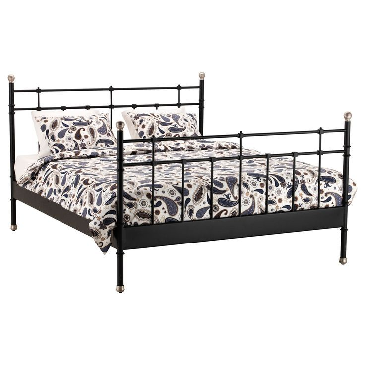 Ikea Metal Bed Frame Pinterest Black Svelvik Beds Bedroom Furniture