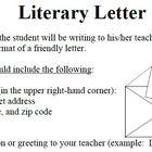 Literary Letter  Novel Reading Comprehension Responses