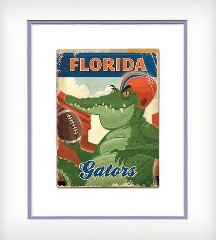 UF Mascot Vintage-Style Print | Art Prints | ATL Vintage Print | Scoutmob Shoppe | Product Detail