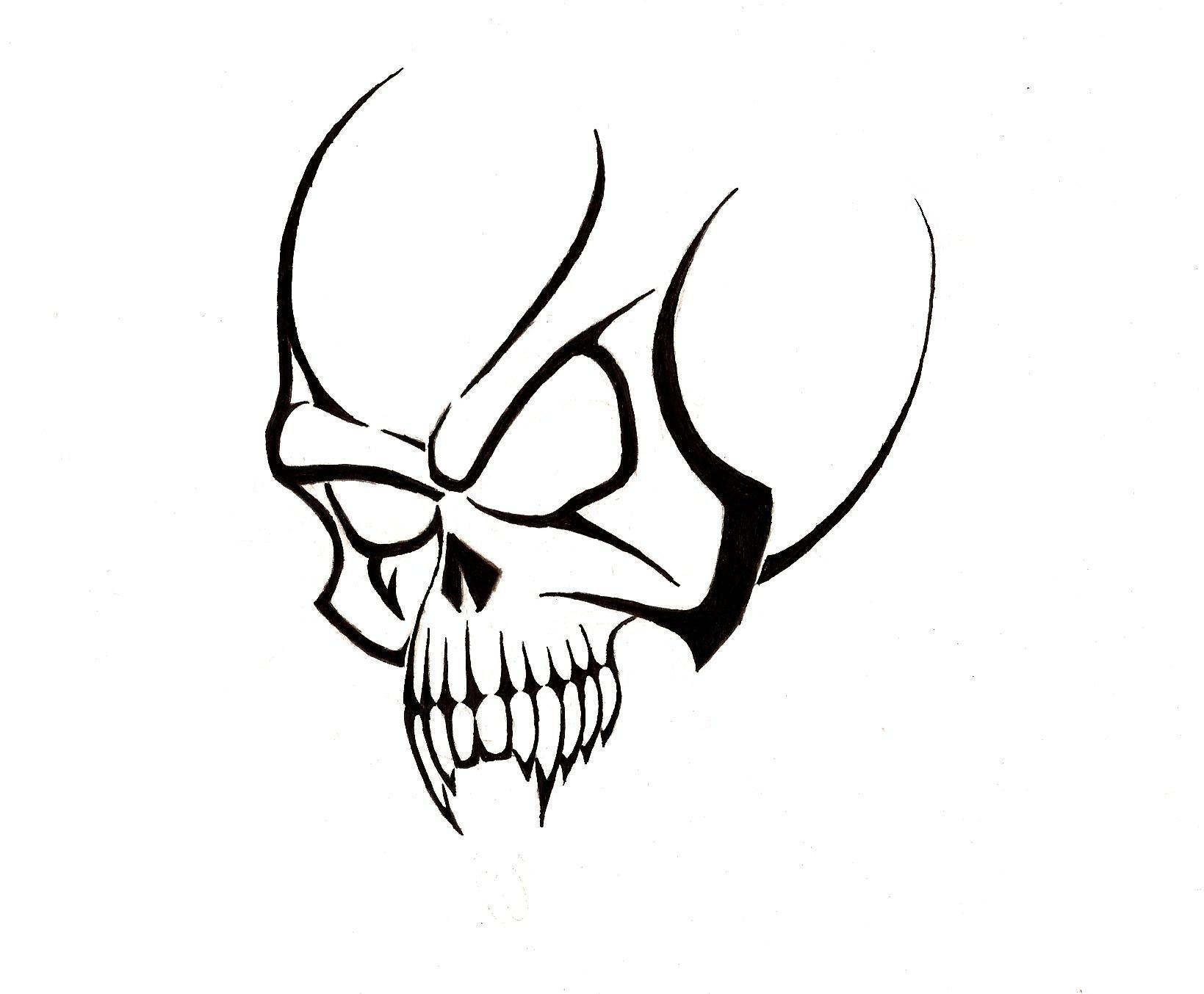 Free Skull Tattoo Designs To Print Clipart Best Tengkorak Rantai