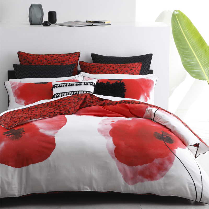 Awesome Opium Red Duvet Cover Set Nice Design