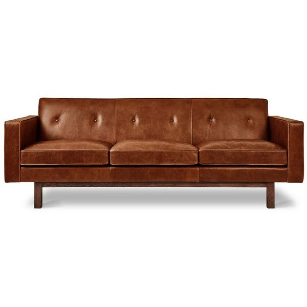 ... Gus Modern (4,365 CAD) ❤ Liked On Polyvore Featuring Home, Furniture,  Sofas, Leather Furniture, Leather Sofa, Gus Modern Couch, Tight Back  Leather Sofa ...