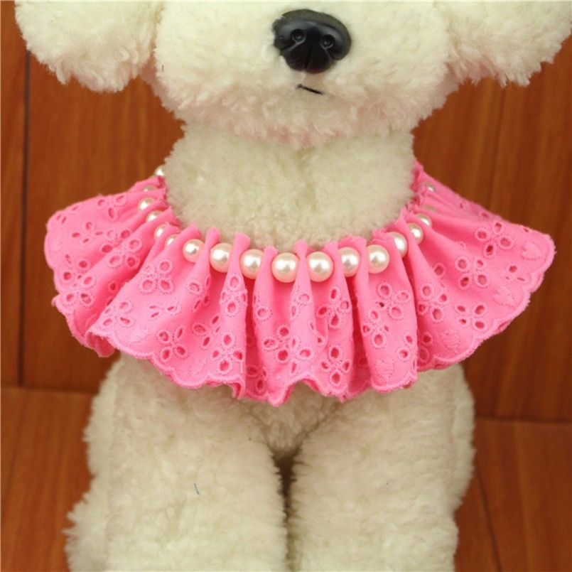 €2.45 10% de DESCUENTO|Perla Collar para perro de moda joyas Collar para cachorros y gatos con Rhinestone Bling Diamante perro suministros y accesorios para mascotas-in Accesorios para perros from Hogar y Mascotas on AliExpress