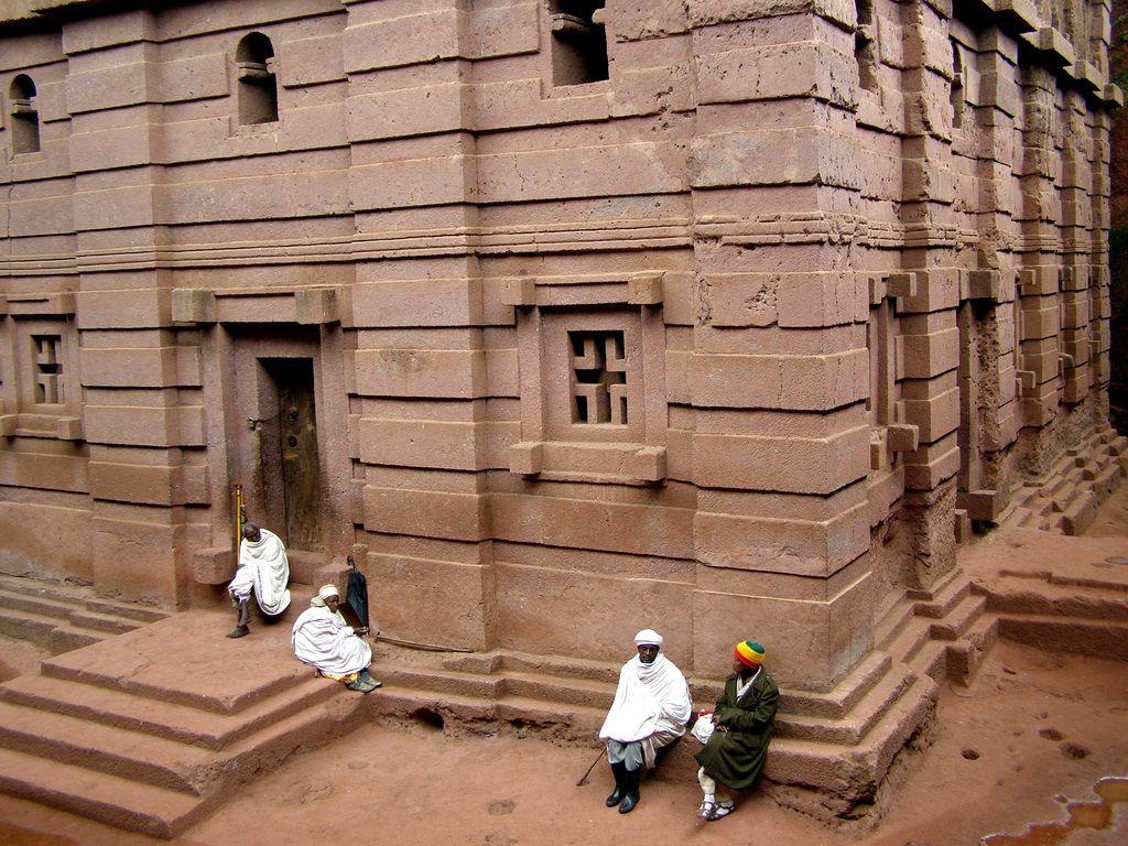 Bet Merkorios. Iglesias talladas en la roca de Lalibela ,Etiopia