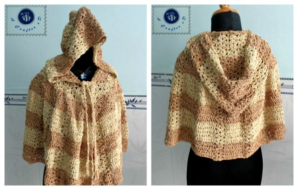 Crochet Scent Of Spring Hooded Cape Maz Kwoks Designs Virkkaus