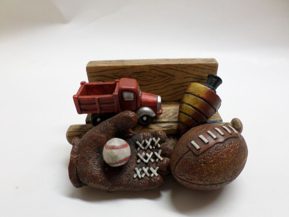 Business Card Holder For The Sports Enthusiast Baseball Football ...