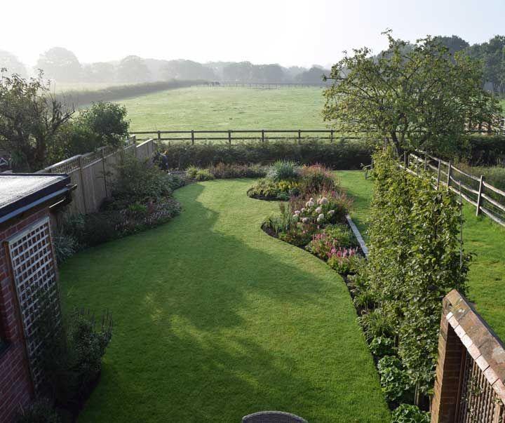 Ariel View Of Small Garden Landscape Design Small Garden Home Landscaping