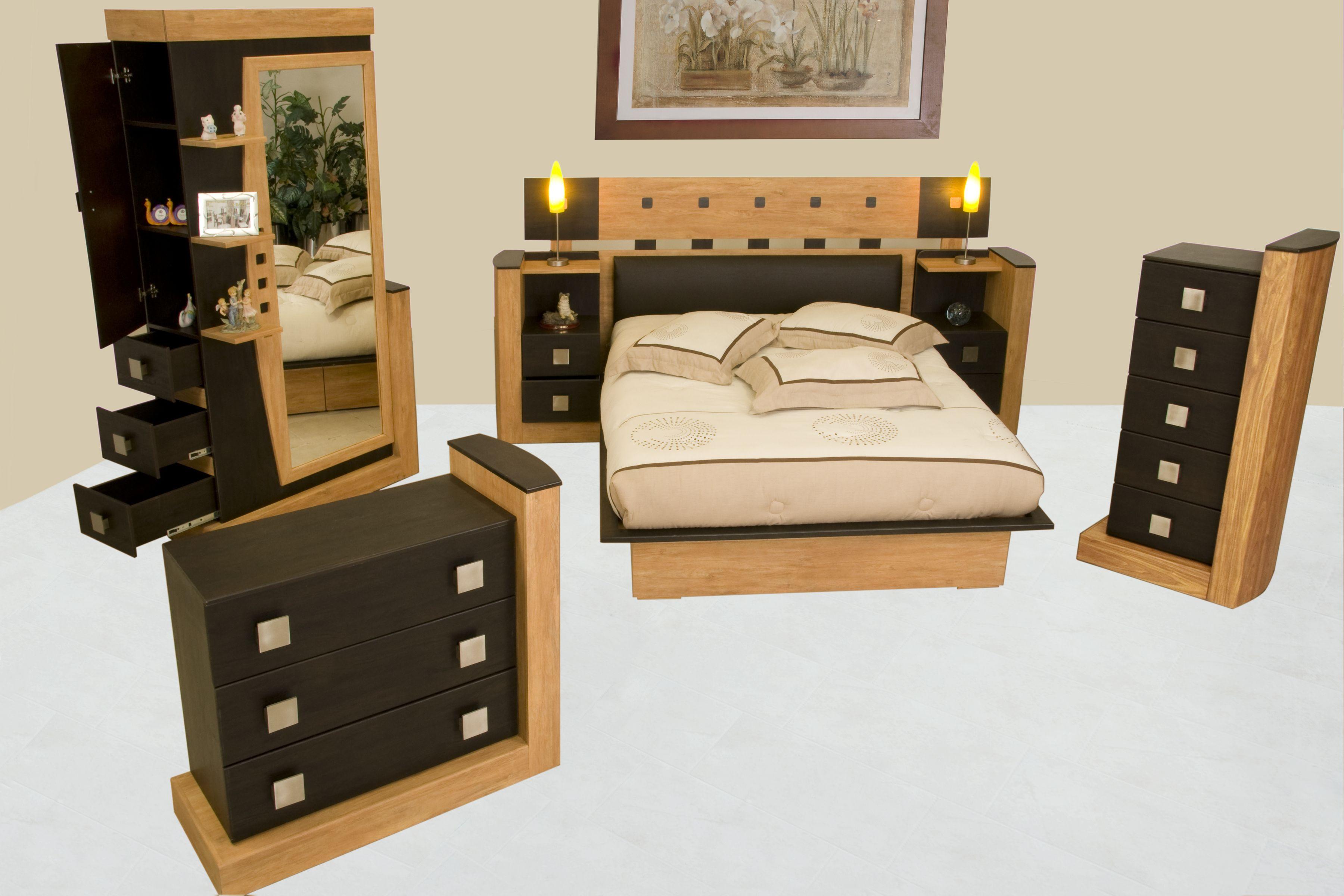 Recamara 4 pzas kenia muebles troncosomuebles troncoso for Muebles modernos precios