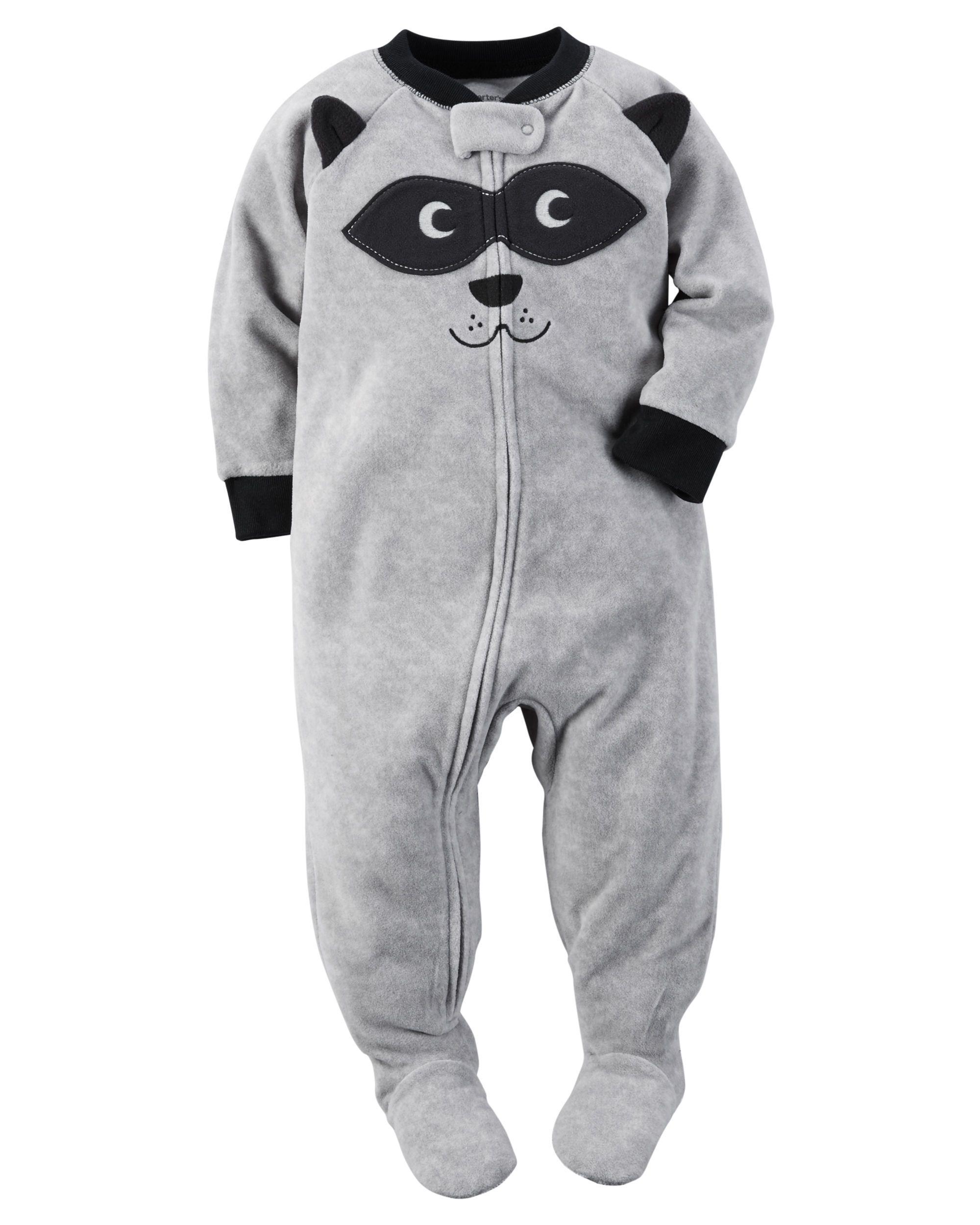 d6700476d717 Baby Boy 1-Piece Fleece PJs