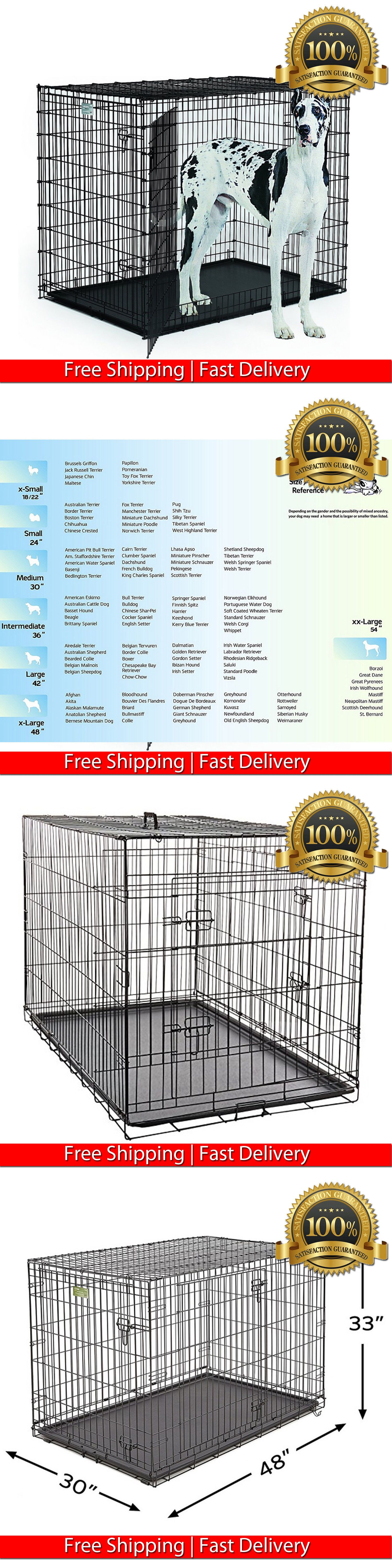 Cages And Crates 121851 Xxl Dog Kennel Crate 48 Foldable Cage And Pan Extra Large Pet Indoor House 2 Door Bu Xxl Dog Kennel Diy Dog Kennel Metal Dog Kennel