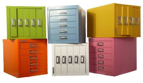 Modern Office Filling Cabinet With Multicolor Bisley File Cabinet, Orange  Filling Cabinet 5 Drawers, And Green Drawers Silver Metal Drawers Pulls    Bisley ...