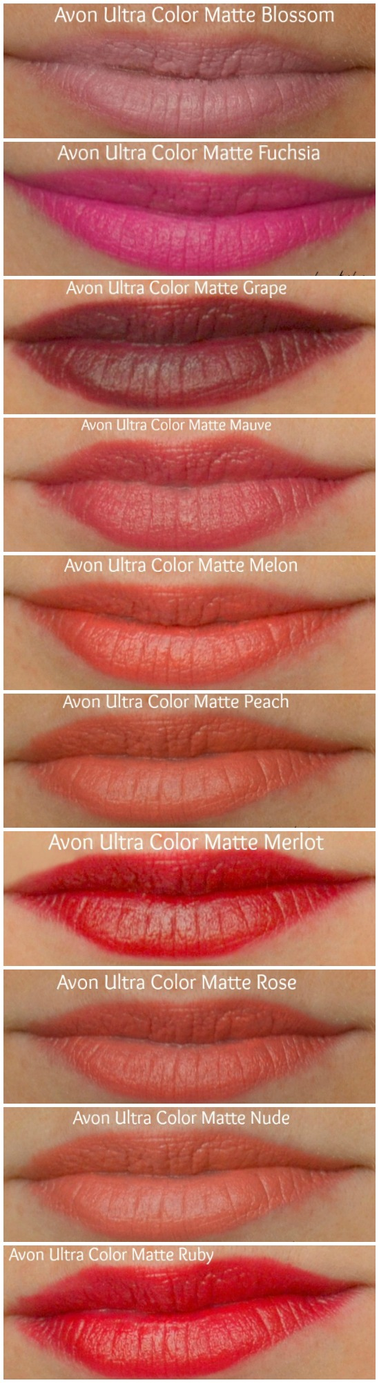 Avon Ultra Color Matte Lipstick Swatches Reviews Lipstick