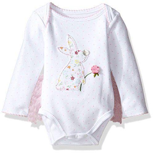a43db9134 Amazon.com: Mud Pie Baby-Girls Newborn Bunny Pocket Romper, Multi, 6-9  Months: Clothing