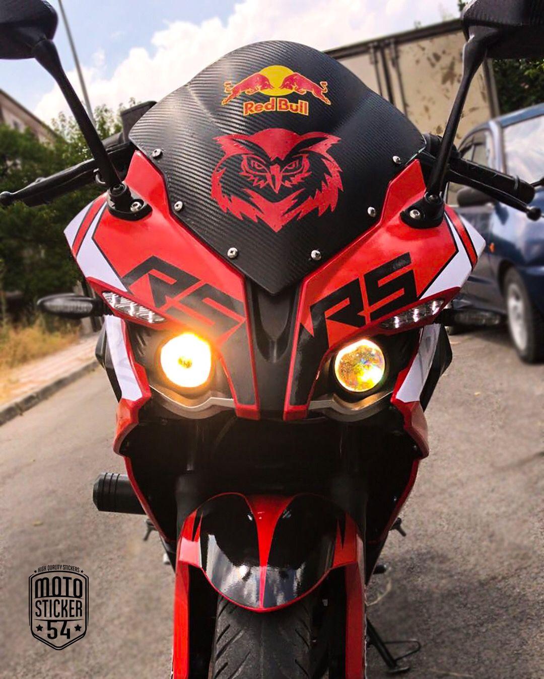 Bajaj pulsar rs200 special design red sticker kit motosticker54 motorcycle bajaj pulsar sticker wrap racingbike