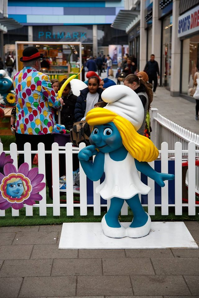 Lights, camera, action!  Smurfing Fun at New Square Shopping Centre, West Bromwich.