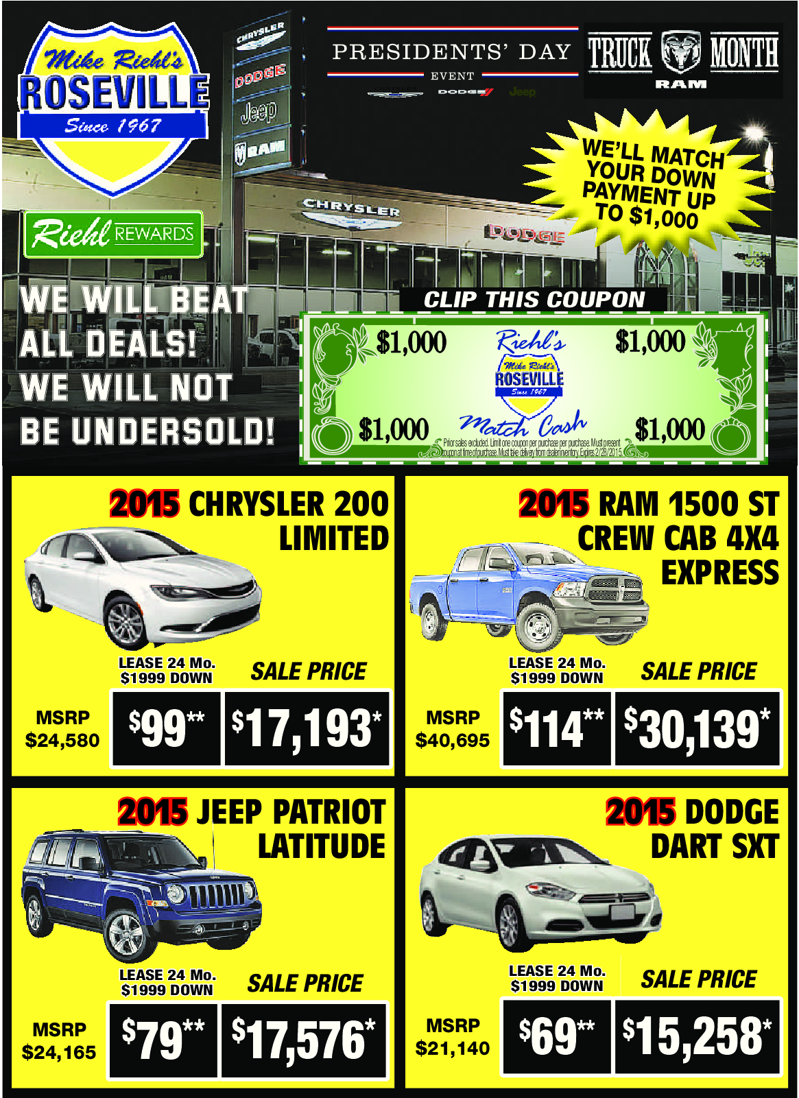 Check Out Our New Car Savings Through March 2 2015 Chrysler