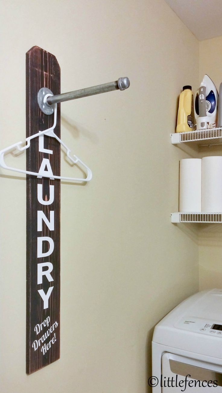 Rustic Laundry Sign Laundry Room Sign Laundry Room Organization Clothing Rack Wood