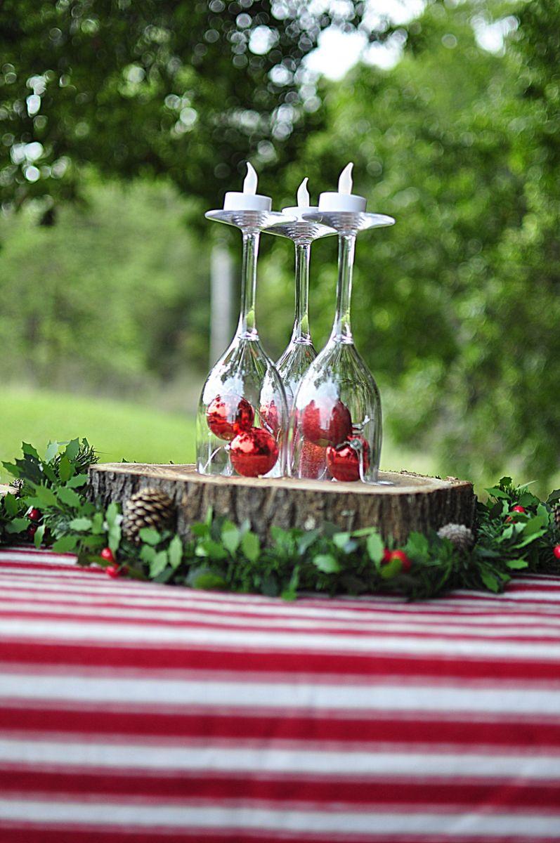 Christmas Picnic! Outdoor Christmas Ideas Plastic Wine