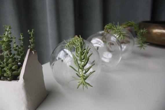 Tri-Orb Vase: glass vase fused vase connected by Birchandco