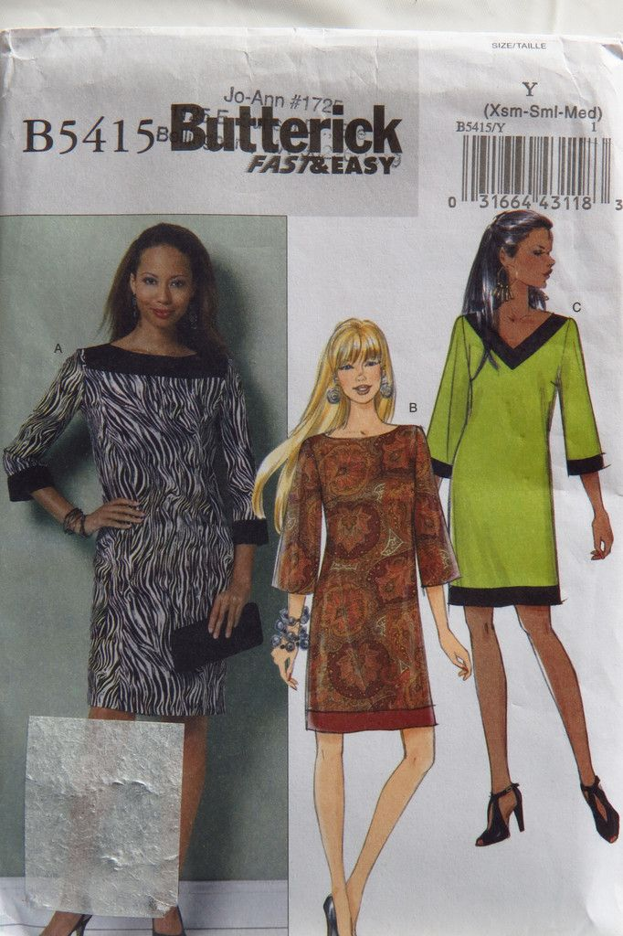Butterick 5415 Misses\'/Misses\' Petite Dress | Collars | Pinterest