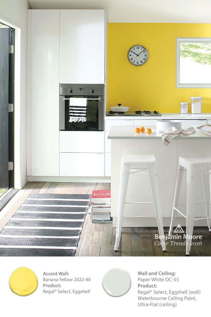 Color Overview Benjamin Moore Modern And Kitchens - Bold painted accent walls