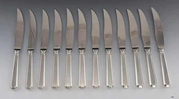 12 Kings Cutlery Sheffield England Silver Plated Grecian Pattern