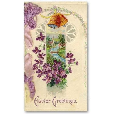 Vintage Easter Holiday Mini Doodles Greeting Cards Business Card