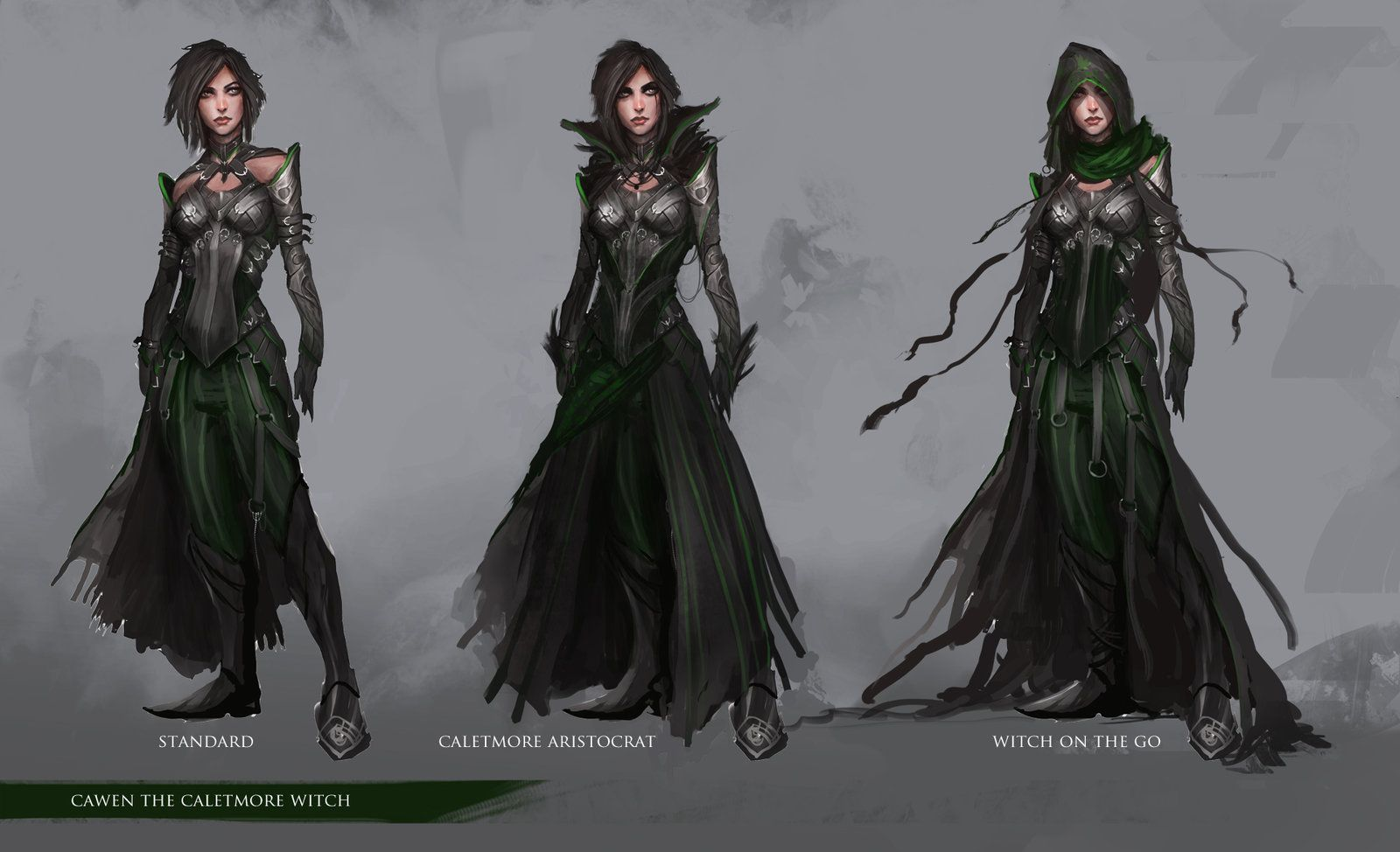 Character Design Dnd : Character design cawen the caletmore witch by