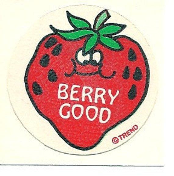 Mint!! Vintage 80s Matte Trend Scratch /& Sniff Sticker Rainbow
