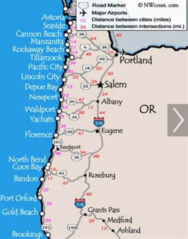 Oregon Coastline drive we did it Brookings to Astoria