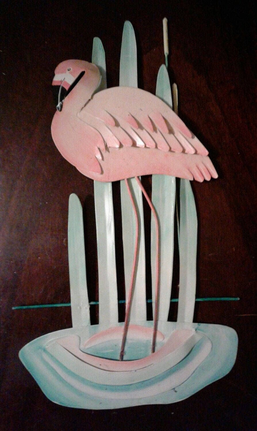 Metal 3d Pink Flamingo Wall Art Handmade Tropical Beach Fl Home Decor Picture Vtg Sculpture Outdoor Indoor T Flamingo Wall Art 3d Metal Wall Art Metal Wall Art