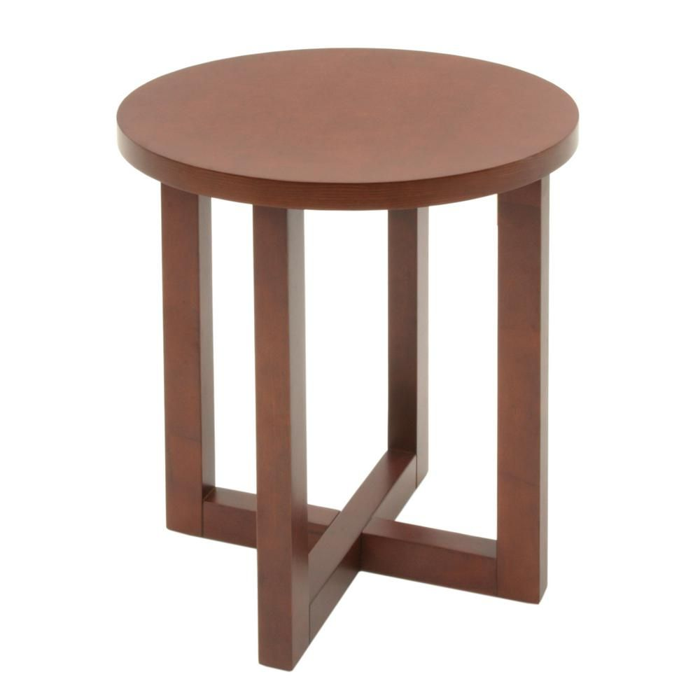 Regency Seating Chloe Cherry Red 21 In Round End Table Modern End Tables End Tables Furniture [ 1000 x 1000 Pixel ]