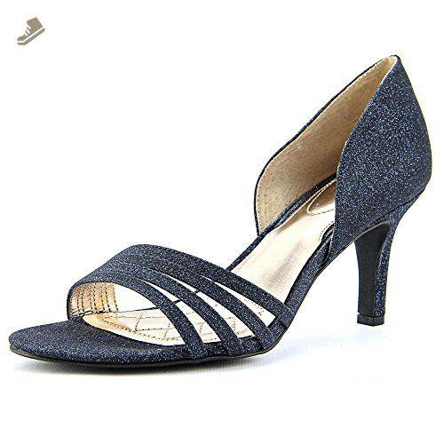 89aadeb48 Alfani Women s Giorjah Evening Pumps Ink Navy Blue Open-Toe Shoes Size 7  (M) - Alfani pumps for women ( Amazon Partner-Link)
