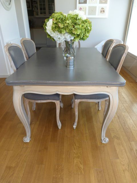 Tables et chaises patinés bricolage Pinterest Chaises, Table - Repeindre Un Meuble Vernis En Bois