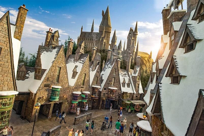 In The Hogsmeade Land Of The Wizarding World Of Harry Potter In Universal Orland Wizarding World Of Harry Potter Harry Potter Filming Locations Wizarding World