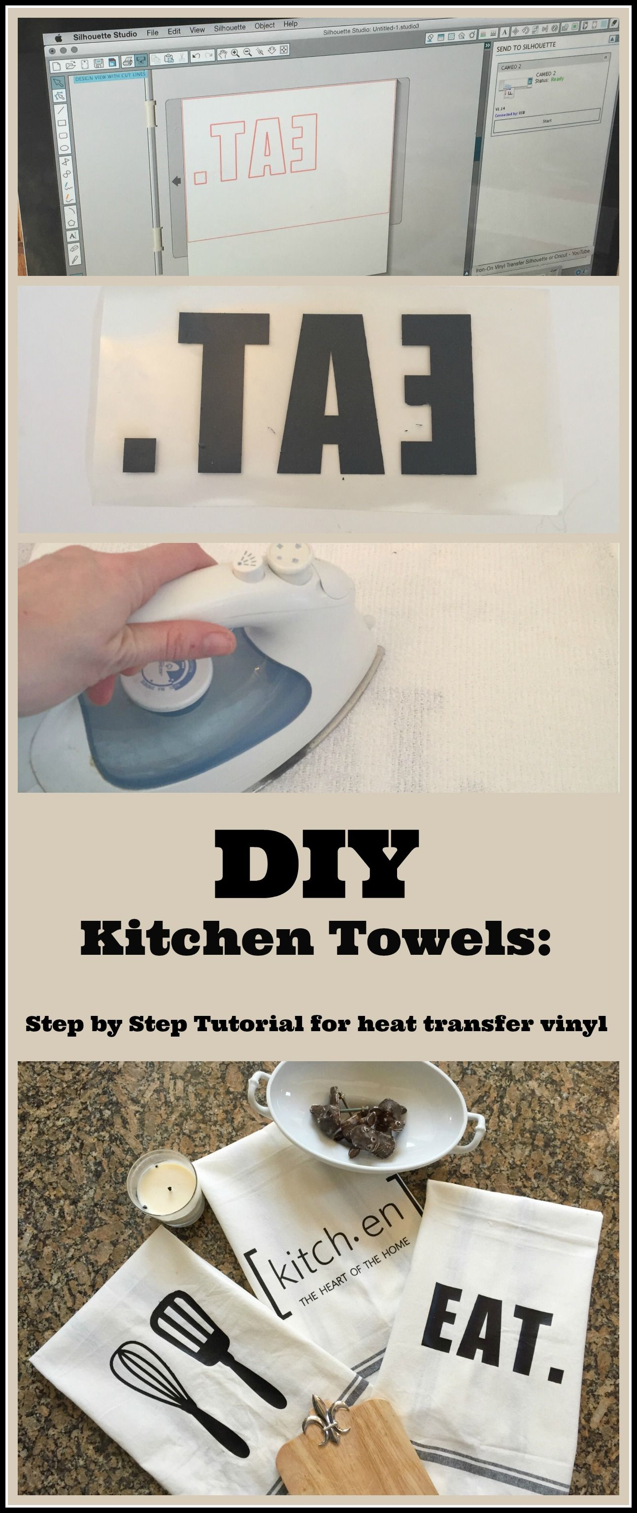 Craft Ideas-Silhouette Challenge: Kitchen Towels | Custom kitchens ...