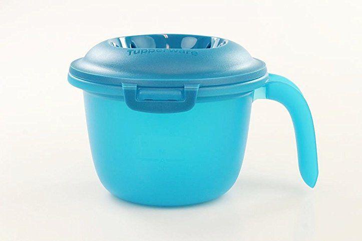 TUPPERWARE Mikrowelle Junior-Reis-Meister 550 ml blau türkis - dunkelblaue kche