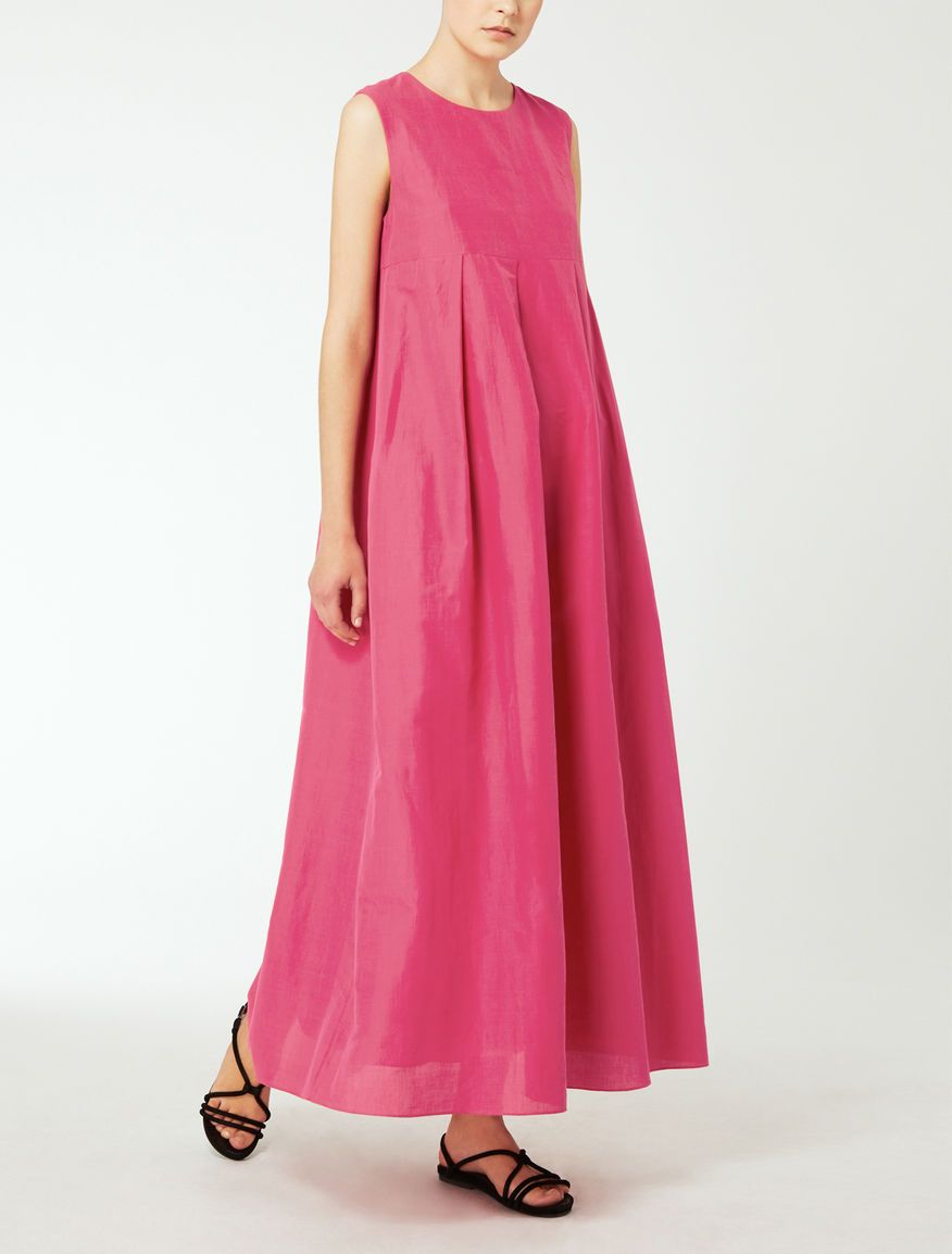 hot sale online 40e4b ca499 Max Mara TULLIA dark pink: Ramie and cotton dress. | Уличная ...