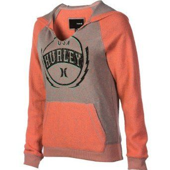 cabe1fd09a2 Amazon.com  Hurley Birdie Pullover Hoodie - Women s  Clothing ...